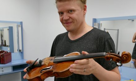 Geiger Pekka Kuusisto in Hanau im September 2016