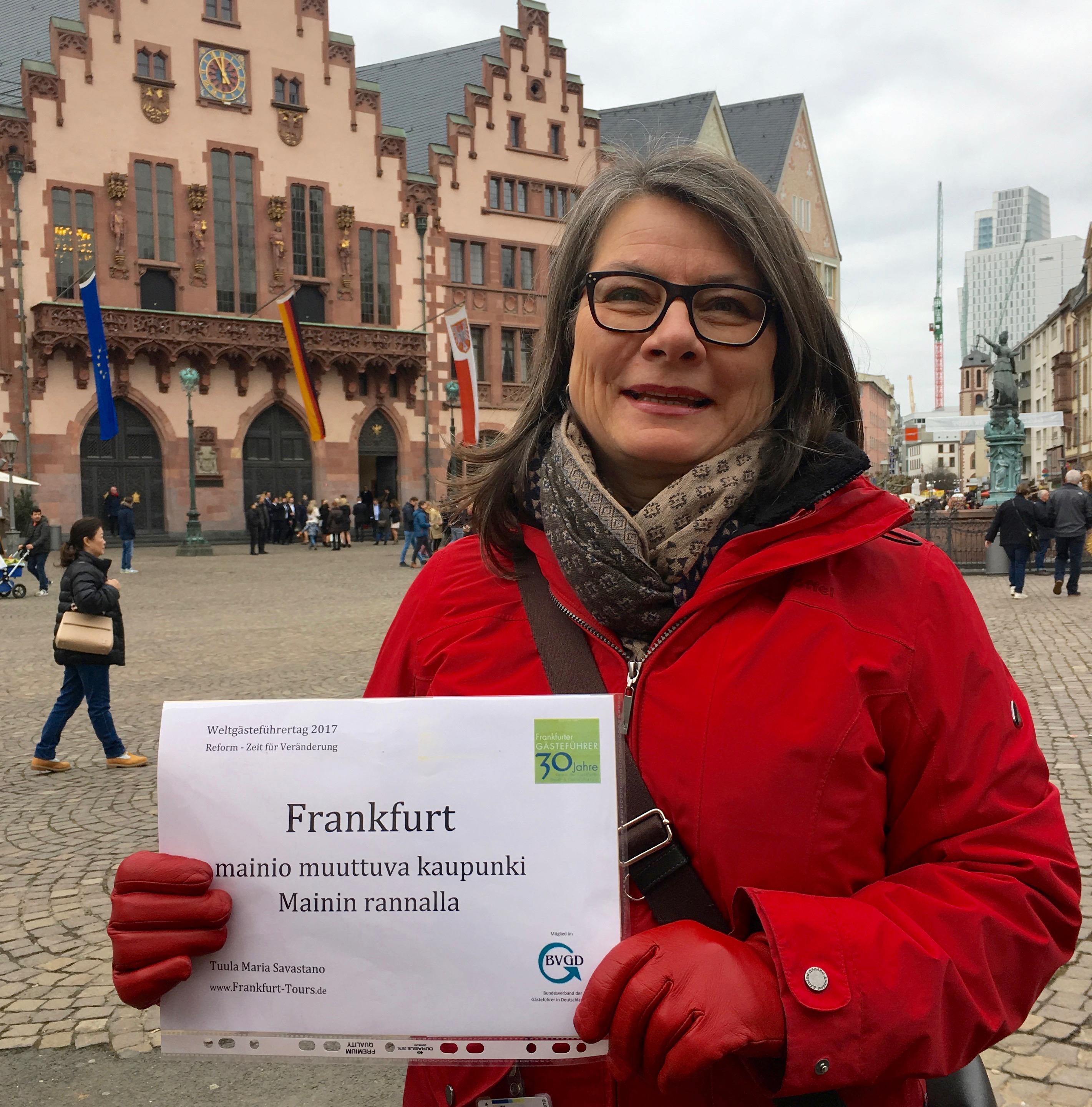 Kaupunkiopastusta Frankfurtissa