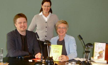 Kirjailija Timo Parvela Frankfurtissa 2010