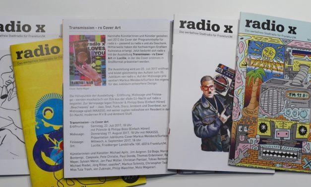 Finissage Ausstellung Transmission – rx Cover Art 6.9.2017 Lucille, Frankfurt