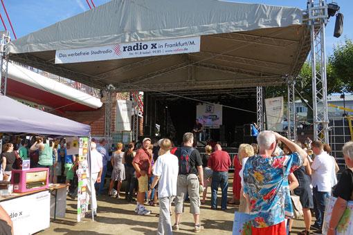 Die radio x Bühne auf dem Museumsuferfest 25.-27.8.2017 Frankfurt