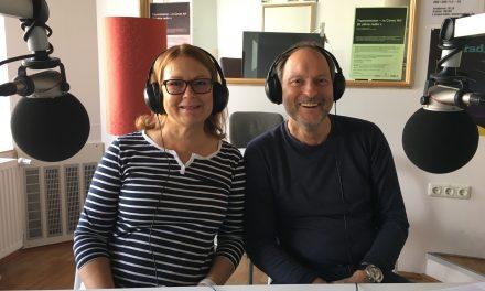 Marita ja Georg studiossa pommisunnuntaina 3.9.2017