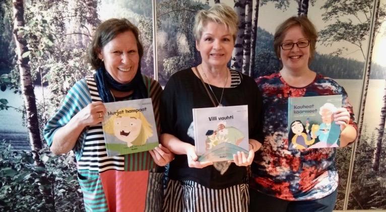 Kirjailija Tuula Pere Suomi-koulussa lokakuussa 2019