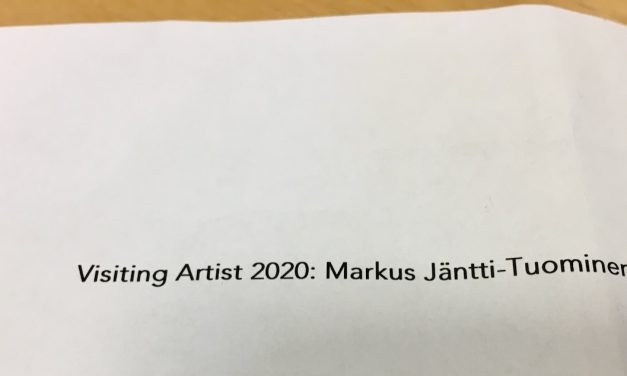 Markus Jäntti-Tuominen Visiting Artist 26.1.20