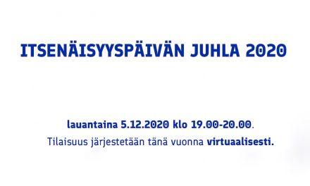 Virtuaalinen itsenäisyyspäivän juhla 05.12.2020 Suomen suurlähetystö Berliini