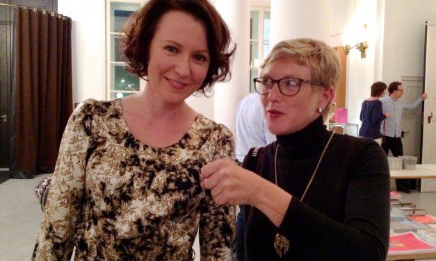 Jenni Haukio Frankfurtin kirjamessuilla 2014.