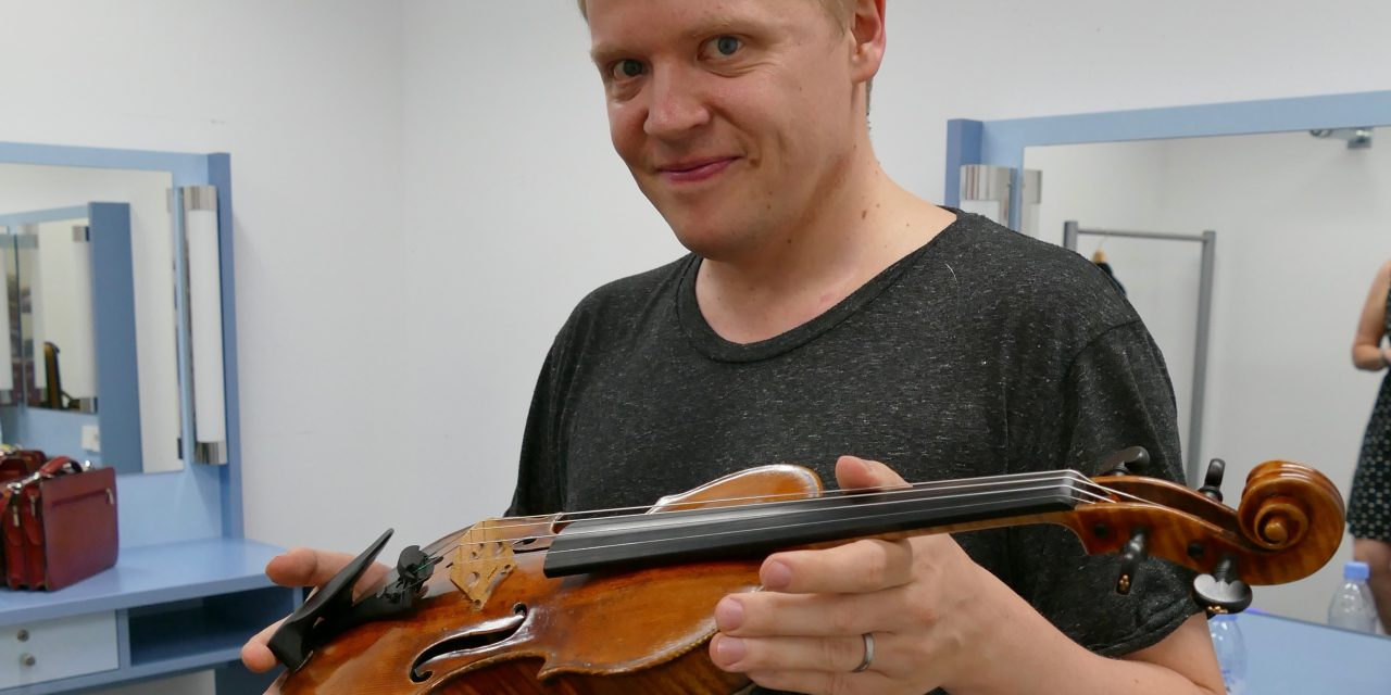 Geiger Pekka Kuusisto in Hanau im September 2016