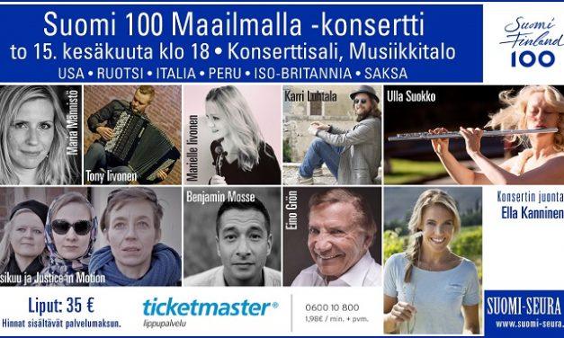 Suomi 100 Maailmalla -konsertti 15.6.2017 Helsinki