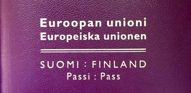 Suomalaisen passin anominen Frankfurtissa 2018